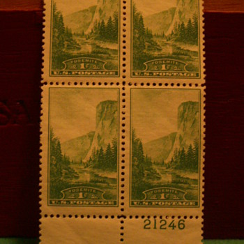 1934 Yosemite 1¢ Stamps - Stamps
