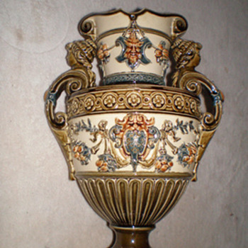 Majolica Vase - Art Pottery