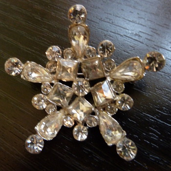 Paste Snowflake - Costume Jewelry