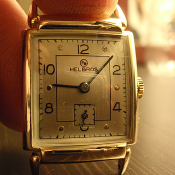 Late 40's Helbros 10K gold filled watch