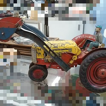 Antique toy tractor