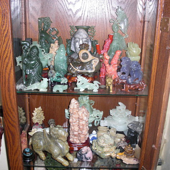 Stone and coral carvings - Asian