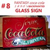 #8 coca cola back painted glass sign