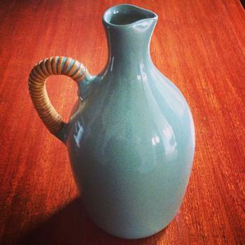 Allan Lowe, Australia 1950s ceramic bottle  - Art Pottery