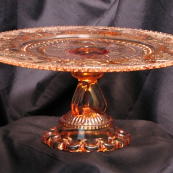 Princess Feather/Doric Border Cake Stand by Westmoreland Glass