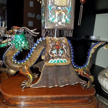 Vintage Dragon Large Figurine - Asian