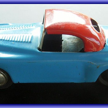 METAL Litho Tin Toy Car -- Friction Toy
