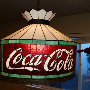 Coca Cola Swag Hanging Lamp