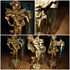 brass cherubs posy holders