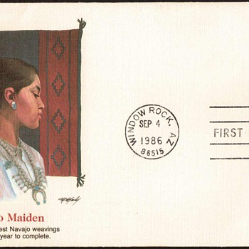 "1986 - ""Navajo Art"" Stamp First Day Cover - Maiden"