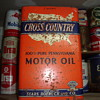 old motor oil  tins