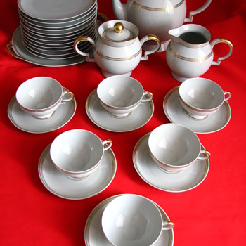Jean Haviland set on ebay.fr. Unusual backmark. - China and Dinnerware