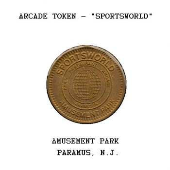 "Arcade Token - ""Sportsworld"" - US Coins"