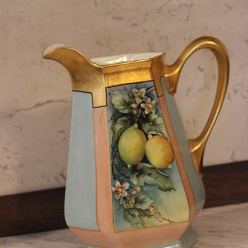 Limoges Hand Painted Pitcher - China and Dinnerware