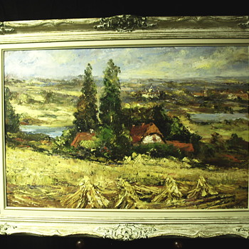 "Landscape painting on board""Veneranda Vabalis""XX century - Visual Art"