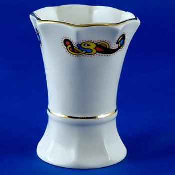 #9 Octagonal Necked Poesy Vase by Royal Tara