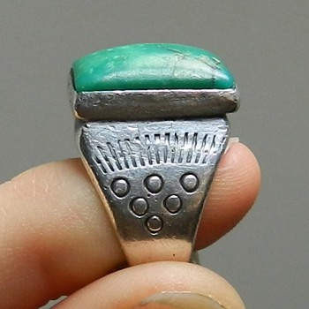 1940's Navajo Ring - Untreated Turquoise - Native American