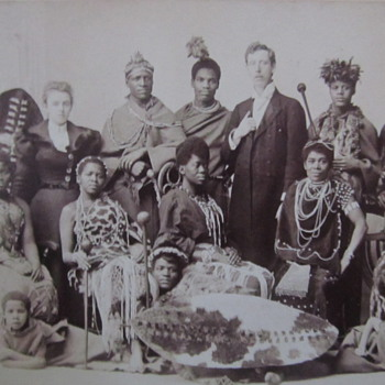 Antique Tribal photograph with Caucasian man and Wife - need help with identification - Photographs