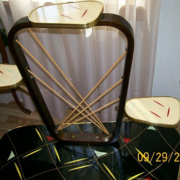Pencil neck for you . Retro Table similar to yours (West Germany) 