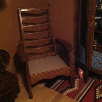 Morris tiger oak chair  - Furniture