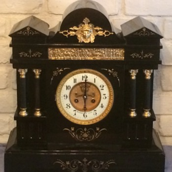 Few french slate clocks I just finished restoring  - Clocks