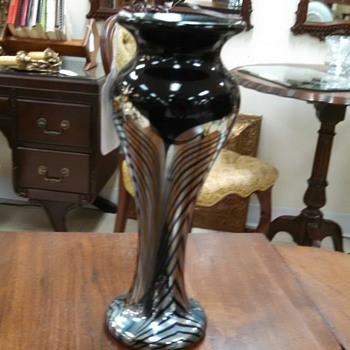 Feathered Glass Vase