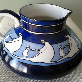 Unusual Pattern Pitcher from Jean Pouyat, Limoges 