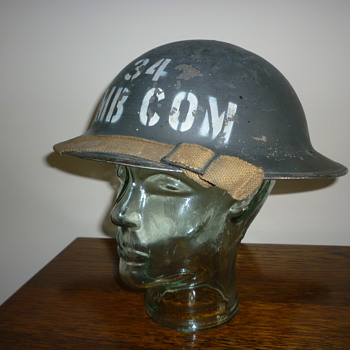 British WWII Royal Air Force Ambulance steel helmet.