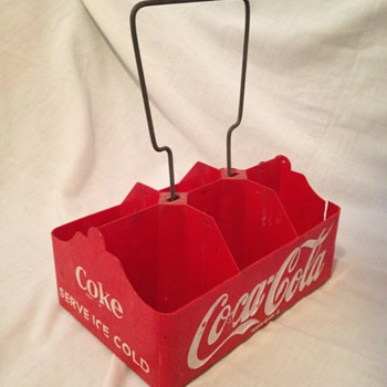 1950's Coca-Cola 6-pack Plastic Carrier