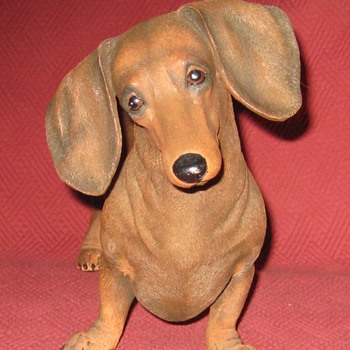 Red Miniature Dachshund Statue