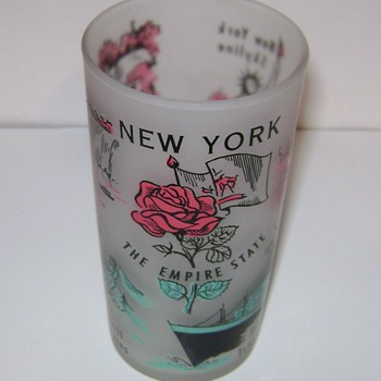 New York State Souvenir Glass
