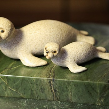 Seal Figurines signed 'Maui' - Animals
