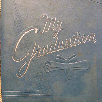 1957 unused graduation invitation