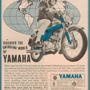 1966 - Yamaha Motorcycle Advertisement - Advertising