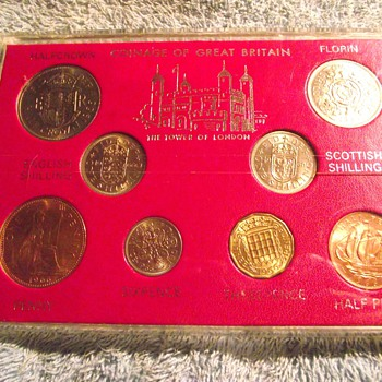 1966-uk coin set. - World Coins