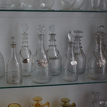 Displaying Decanters - Art Glass