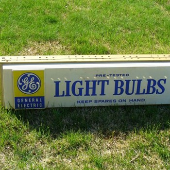 GE Light Bulb Sign - Signs