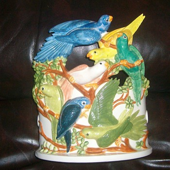 bird planter - Art Pottery