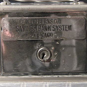"Promotional Advertising Steel Bank""Salesman Sample""W.F.Burns Co"