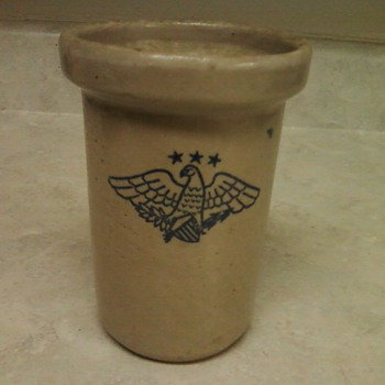 STONEWARE EAGLE JAR