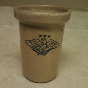 STONEWARE EAGLE JAR - Pottery