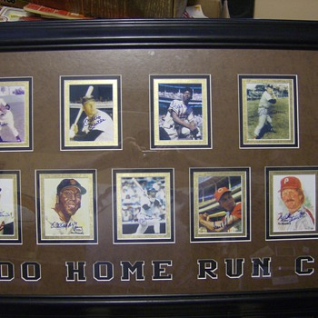 BASEBALL AUTOGRAGHS 500 HOME RUN CLUB - Baseball