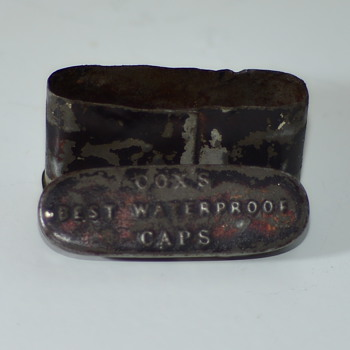 Rare, Civil war era percussion cap tin