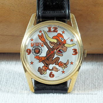 1971 University of Texas Longhorn Football Watch by Amazin' Time Co. - Wristwatches