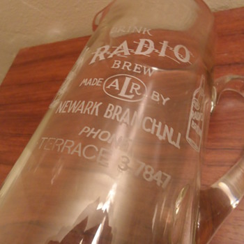 Radio Brew ALR Clear Glass Pitcher - Breweriana