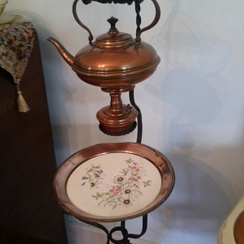 tea kettle with warmer and pie stand
