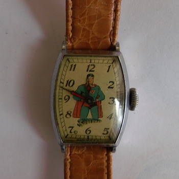 1939 New Haven Superman Wrist Watch - Wristwatches