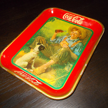 1931 Coca-Cola Boy &amp; His Dog Tray