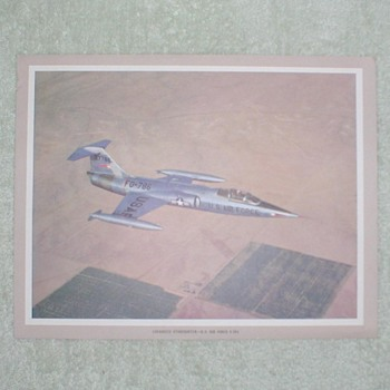 Lockheed Starfighter F-104 Airplane Print