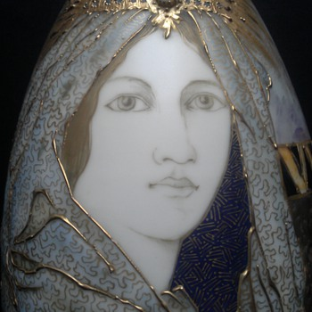 The Veiled Lady by Amphora - Art Pottery